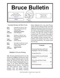 Bruce Bulletin newsletter